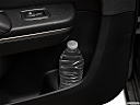 2018 Dodge Charger SXT Plus, second row side cup holder with coffee prop, or second row door cup holder with water bottle.