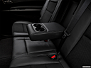 2018 Dodge Durango GT, rear center console with closed lid from driver's side looking down.
