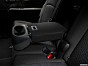 2018 Dodge Journey SXT, rear center console with closed lid from driver's side looking down.