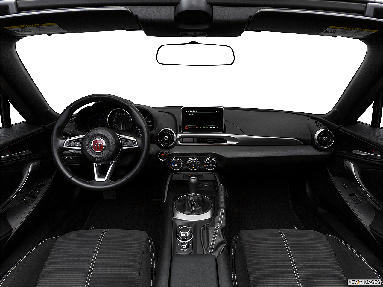 2018 Fiat 124 Spider Classica, centered wide dash shot