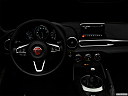 "2018 Fiat 124 Spider Classica, centered wide dash shot - ""night"" shot."