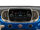 2018 Fiat 500 Lounge, closeup of radio head unit