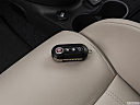 2018 Fiat 500 Lounge, key fob on driver's seat.