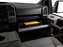 2018 Ford F-150 XLT, glove box open.