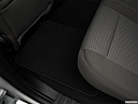 2018 Ford F-150 XLT, rear driver's side floor mat. mid-seat level from outside looking in.