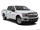 2018 Ford F-150 XLT, front passenger 3/4 w/ wheels turned.