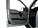 2018 Ford F-150 XL, inside of driver's side open door, window open.