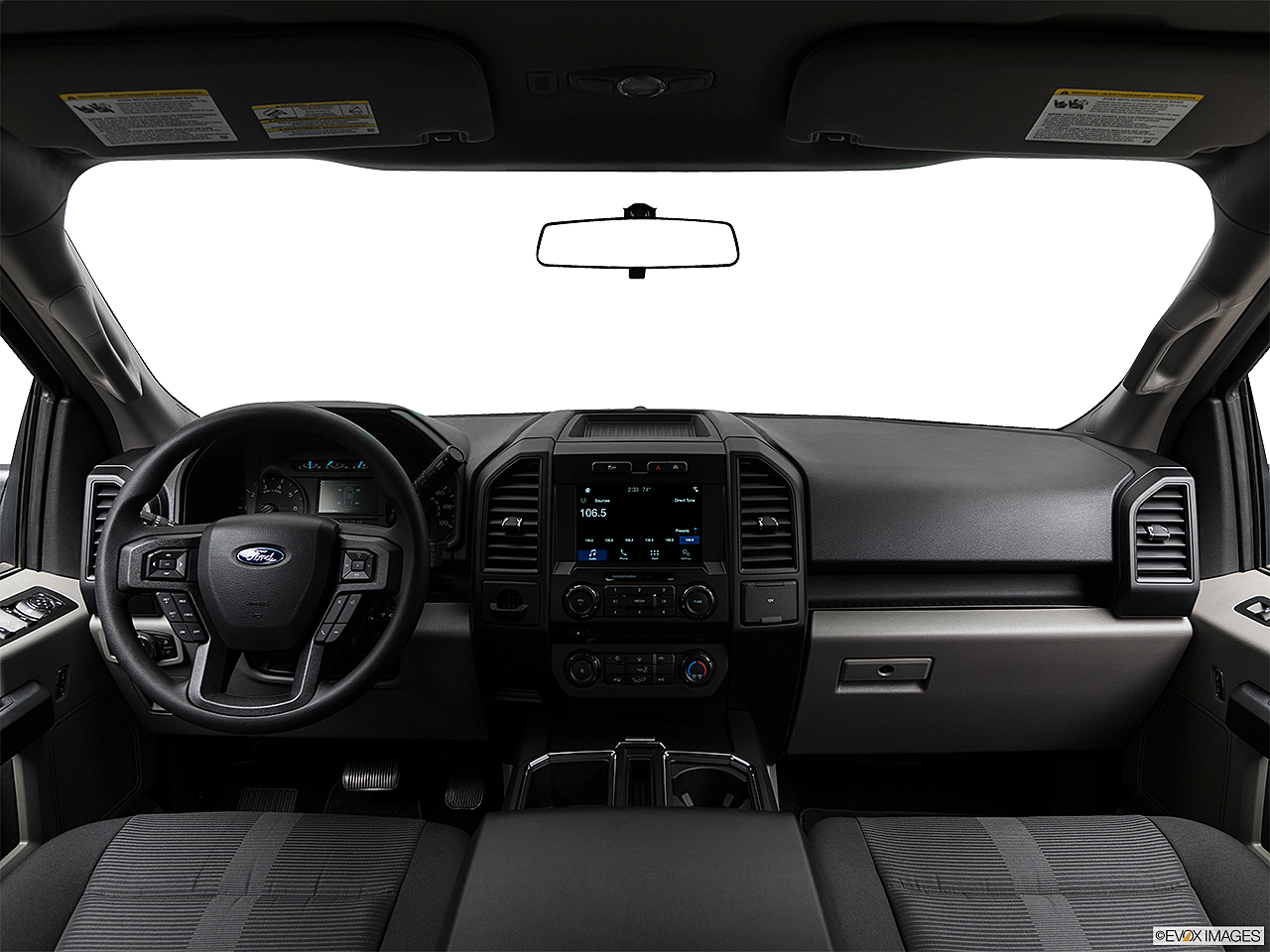 2018 Ford F-150 XL, centered wide dash shot
