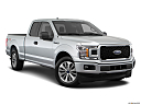 2018 Ford F-150 XL, front passenger 3/4 w/ wheels turned.