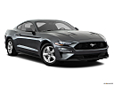 2018 Ford Mustang ECOBOOST, front passenger 3/4 w/ wheels turned.
