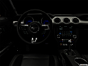 "2018 Ford Mustang GT Premium, centered wide dash shot - ""night"" shot."
