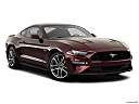 2018 Ford Mustang GT Premium, front passenger 3/4 w/ wheels turned.