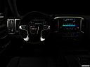 "2018 GMC Sierra 1500 SLE, centered wide dash shot - ""night"" shot."