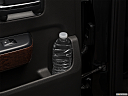 2018 GMC Sierra 1500 SLE, second row side cup holder with coffee prop, or second row door cup holder with water bottle.