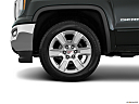 2018 GMC Sierra 1500 SLE, front drivers side wheel at profile.