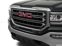 2018 GMC Sierra 1500 SLE, close up of grill.