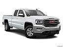 2018 GMC Sierra 1500 SLE, front passenger 3/4 w/ wheels turned.