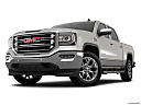 2018 GMC Sierra 1500 SLT, front angle view, low wide perspective.