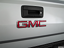 2018 GMC Sierra 1500 SLT, rear manufacture badge/emblem
