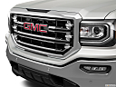 2018 GMC Sierra 1500 SLT, close up of grill.