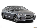 2018 Hyundai Elantra SEL, front passenger 3/4 w/ wheels turned.