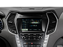 2018 Hyundai Santa Fe SE, closeup of radio head unit