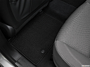 2018 Hyundai Santa Fe SE, rear driver's side floor mat. mid-seat level from outside looking in.