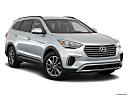 2018 Hyundai Santa Fe SE, front passenger 3/4 w/ wheels turned.