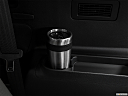 2018 Hyundai Santa Fe SE, third row side cup holder with coffee prop.