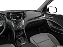 2018 Hyundai Santa Fe SE, center console/passenger side.