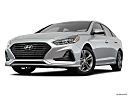 2018 Hyundai Sonata SEL, front angle view, low wide perspective.