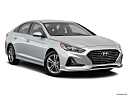 2018 Hyundai Sonata SEL, front passenger 3/4 w/ wheels turned.