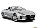 2018 Jaguar F-Type, front passenger 3/4 w/ wheels turned.