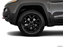 2018 Jeep Cherokee Trailhawk, front drivers side wheel at profile.