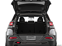 2018 Jeep Cherokee Trailhawk, trunk open.
