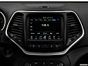 2018 Jeep Cherokee Trailhawk, closeup of radio head unit