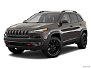 2018 Jeep Cherokee Trailhawk, front angle medium view.