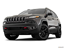 2018 Jeep Cherokee Trailhawk, front angle view, low wide perspective.