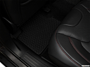 2018 Jeep Cherokee Trailhawk, rear driver's side floor mat. mid-seat level from outside looking in.