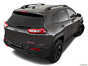2018 Jeep Cherokee Trailhawk, rear 3/4 angle view.