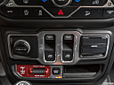 2018 Jeep Wrangler Rubicon, driver's side inside window controls.