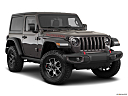 2018 Jeep Wrangler Rubicon, front passenger 3/4 w/ wheels turned.