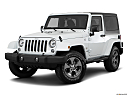 2018 Jeep Wrangler Sahara, front angle medium view.