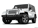 2018 Jeep Wrangler Sahara, front angle view, low wide perspective.