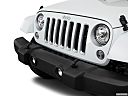 2018 Jeep Wrangler Sahara, close up of grill.
