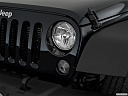 2018 Jeep Wrangler Sport, drivers side headlight.