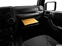2018 Jeep Wrangler Sport, glove box open.