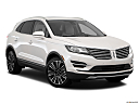 2018 Lincoln MKC Black Label, front passenger 3/4 w/ wheels turned.