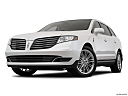 2018 Lincoln MKT Reserve, front angle view, low wide perspective.
