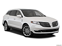 2018 Lincoln MKT Reserve, front passenger 3/4 w/ wheels turned.